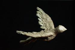 Dame lotus et l'oiseau