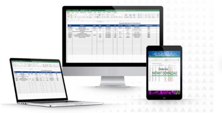 3 Inventory Spreadsheet Templates