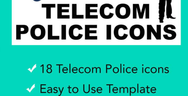 Telecom Icons for the Police and First Responder Industry - Vector Illustrator I