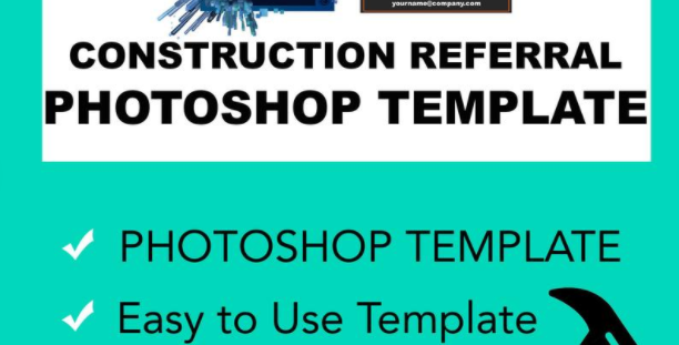 Construction Referral Program - Graphic Design Photoshop Marketing Template