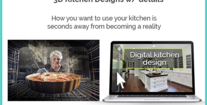 Custom Kitchen Design in 3D to give your builder or contractor