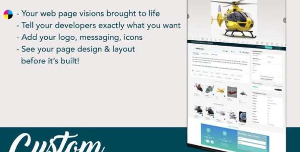 Website mockup - custom website sections and pages