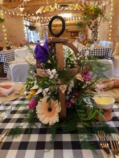 Art floral cage en bois