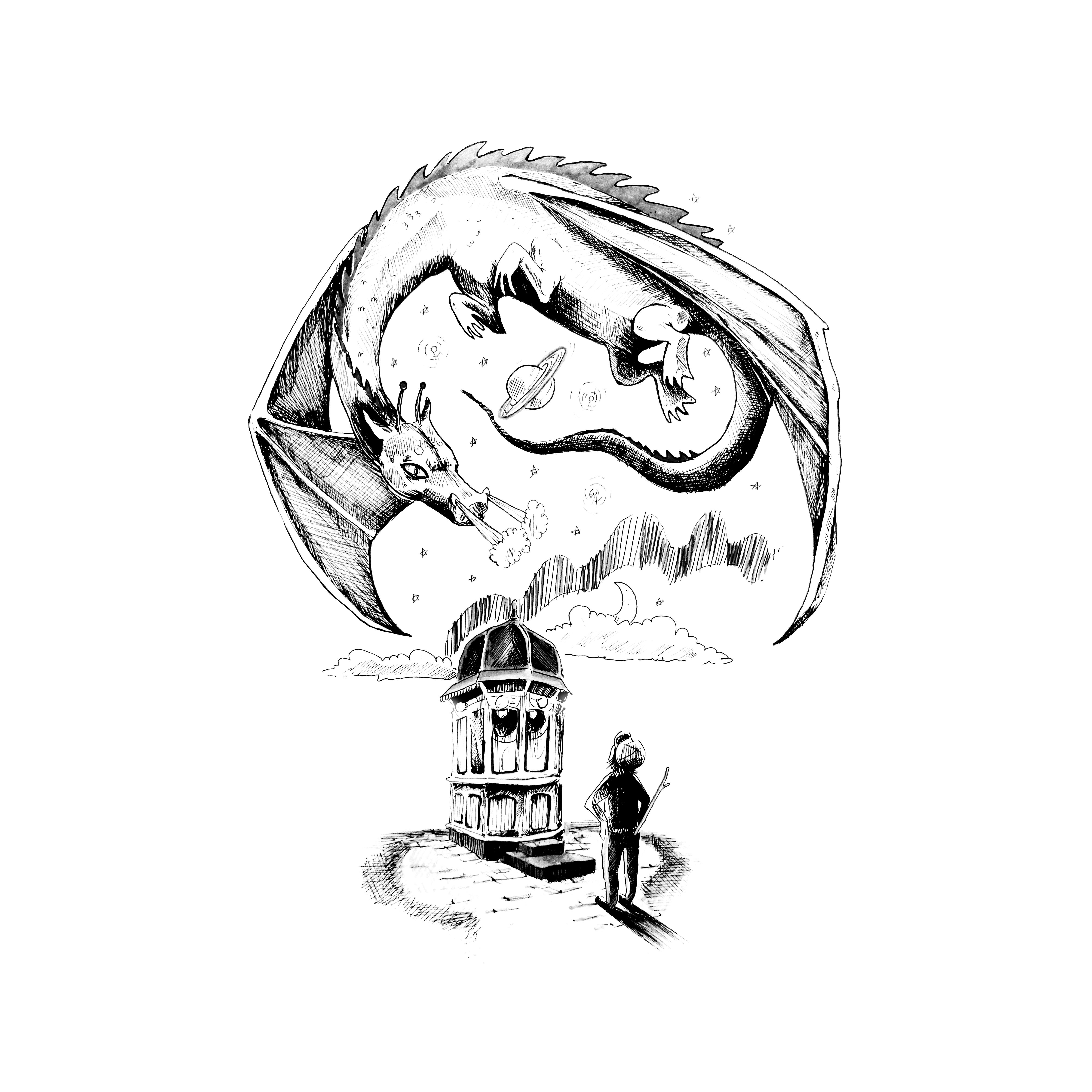 Dragon and Rocket Kiosk