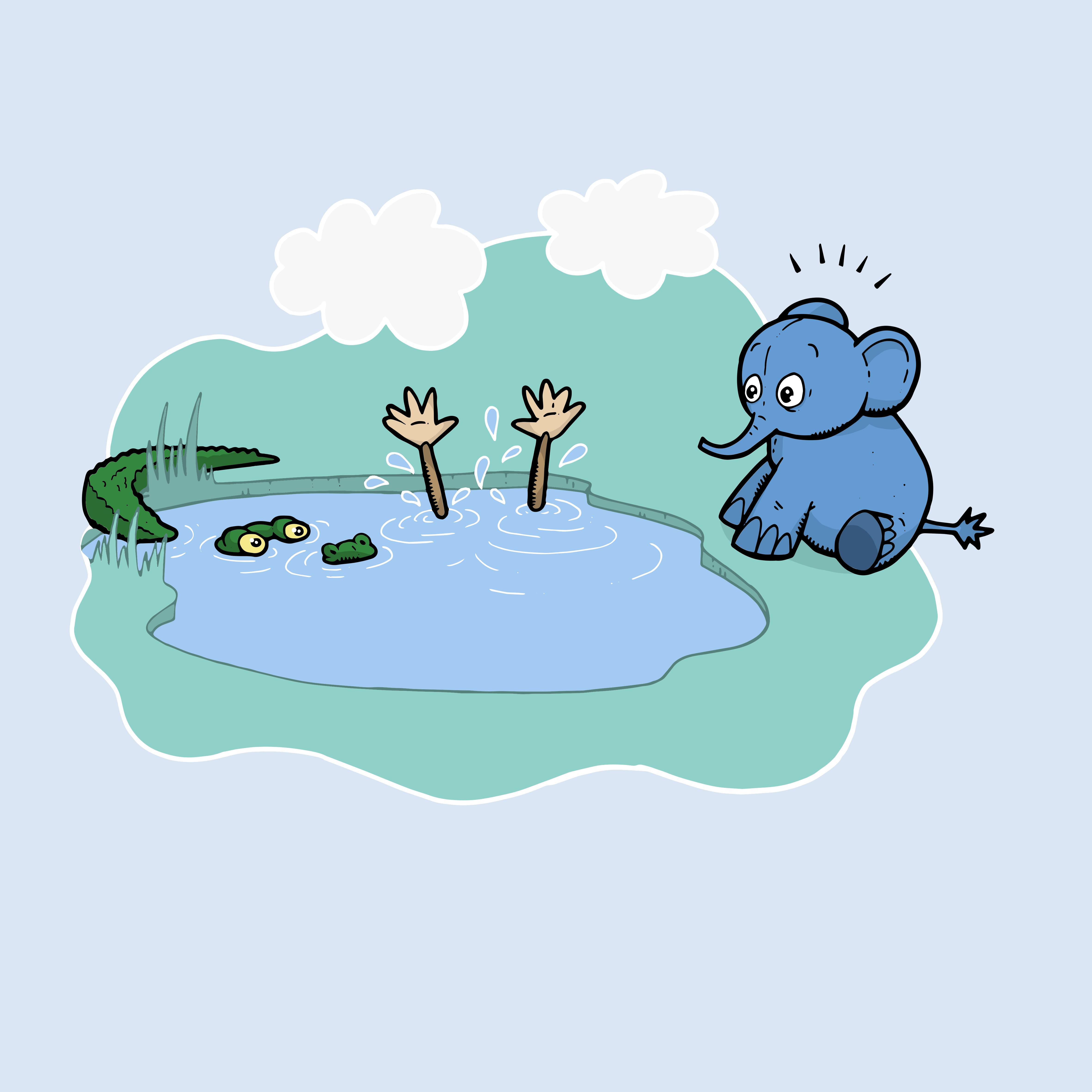 krokodille i vannet