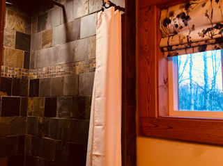 Trailside Cabins Shower and window
