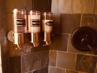 Trailside shower dispensers