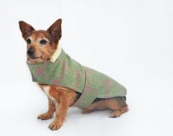 minks tweed dog coat