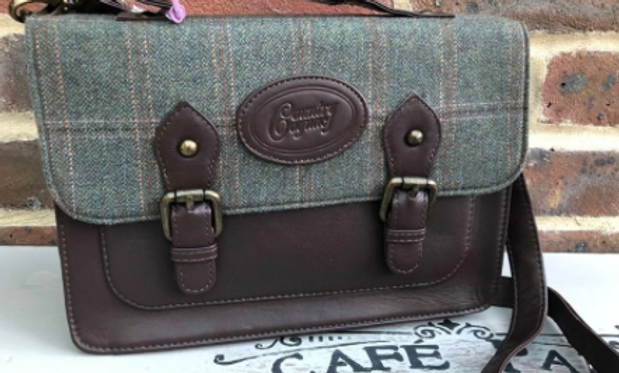 Tweed & Leather Mini Satchel