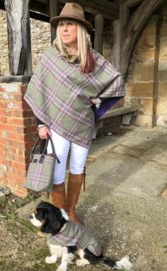 Pure Yorkshire Tweed Poncho Mathching Do
