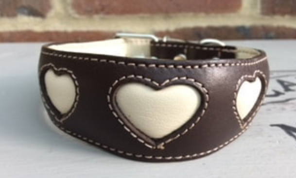 Leather Heart Collars