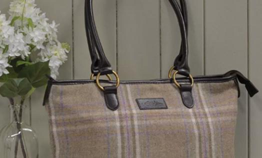 Heather Tweed Tote Bags