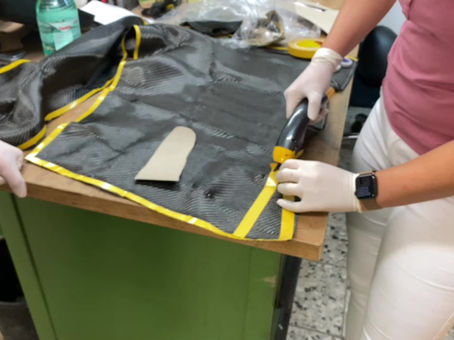 Herstellung Carbon Unterschenkel Orthese