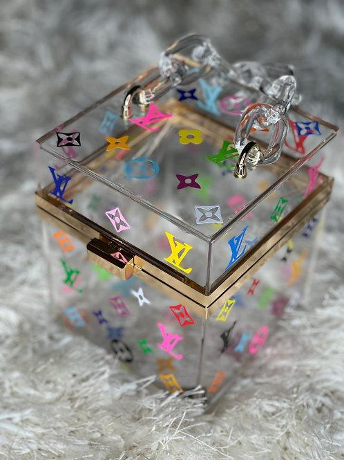 LV inspired Box Purse