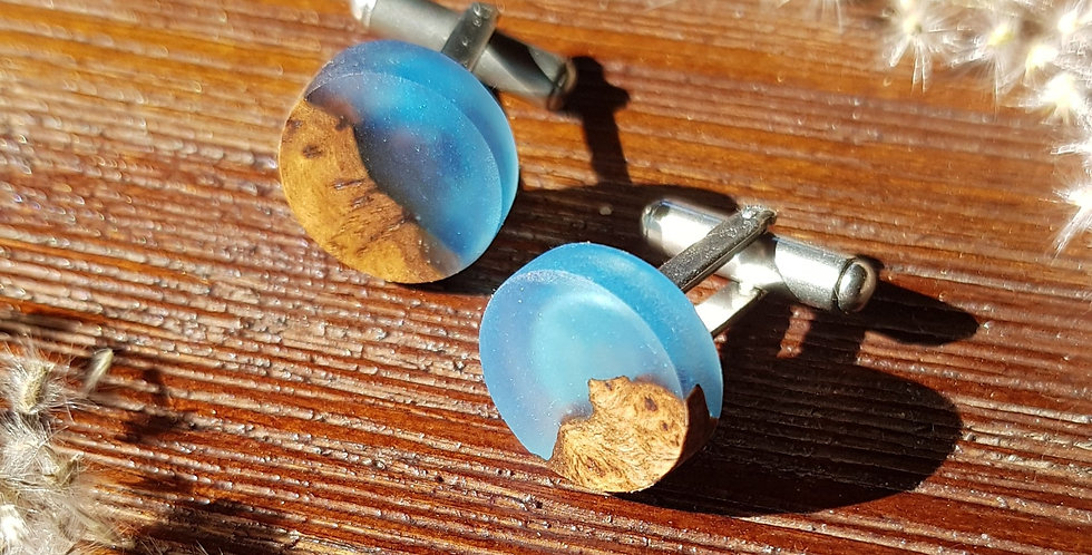Wood and Resin Cufflinks