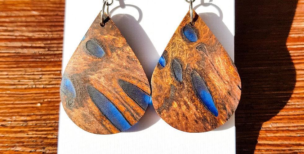 Banksia and Resin Teardrop Earrings