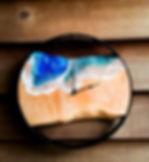 River Timber Designs Wood and Resin Cloc