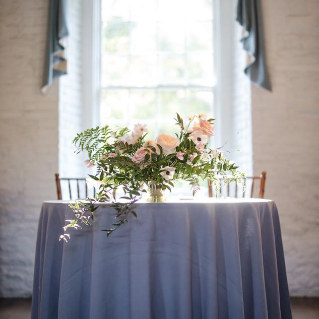 Lush garden arrangement for a wedding at the New York Botanical Gardens