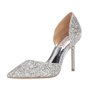 Badgley Mischka Silver Ozara Heel