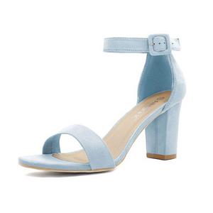 Light Blue Suede Heels