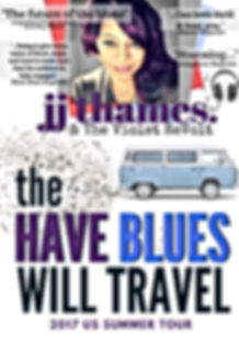 Have blues will travel tour poster