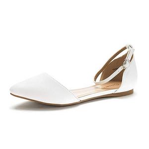 White Ballet Flats