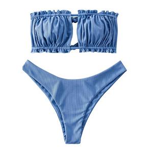Ruffled Bandeau Bikini