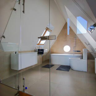 loft bathroom entrance