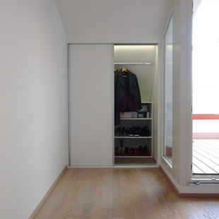 built-in shoe and garment cupboard
