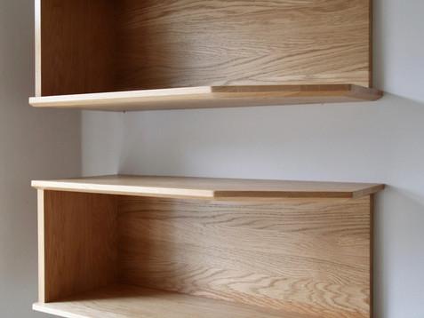 massive oak shelves