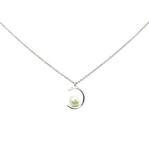 Collier Or blanc et perle d'akoya