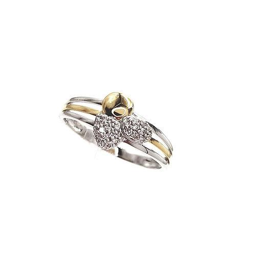Bague Or jaune 18 carats et diamants