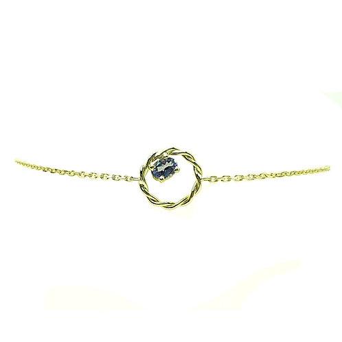 Bracelet or jaune Tanzanite