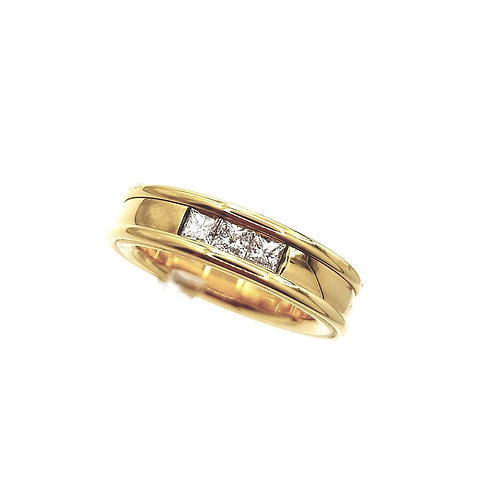 Bague Or jaune 18 carats et diamants