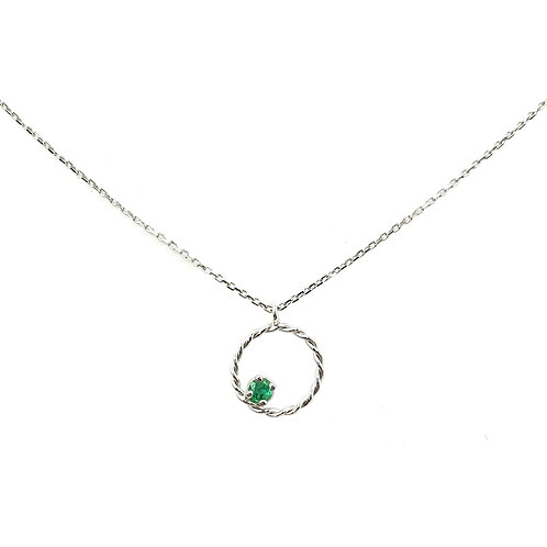 White gold necklace