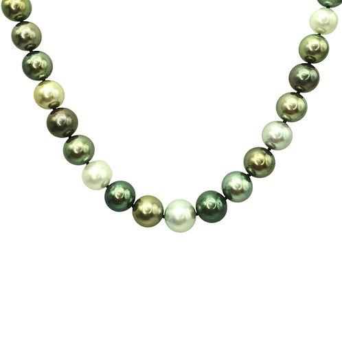 Collier or blanc, perles de Tahiti et perles des mers du sud