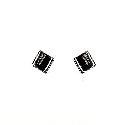 Boucle d'oreille or blanc 18 carats