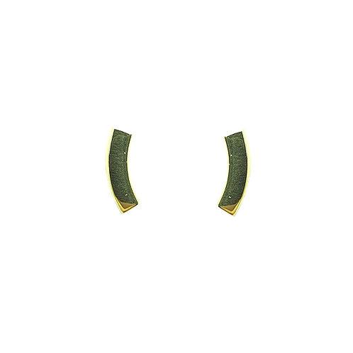 Boucle d'oreille or jaune
