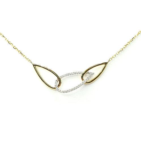Collier or jaune diamants