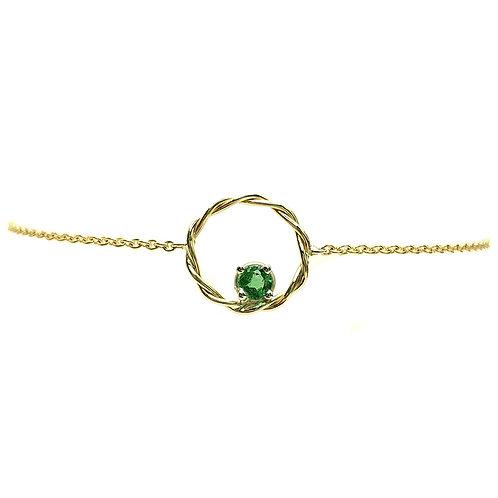 Bracelet or jaune émeraude