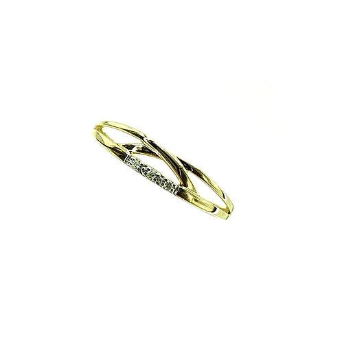 Bague Or jaune et or blanc 18 carats diamants