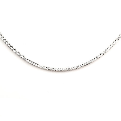 Collier Or blanc 18 carats maille anglaise