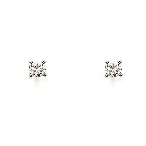 Boucle d'oreille or blanc 18 carats diamant