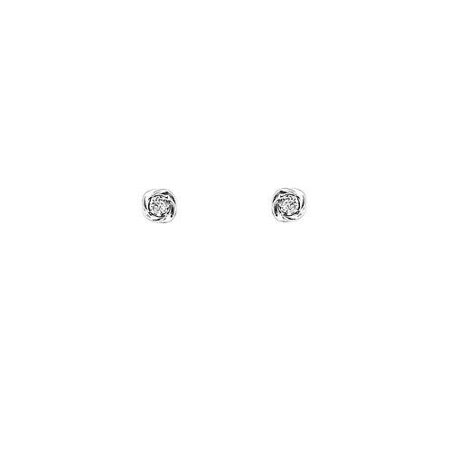 Boucle d'oreille or blanc et diamants