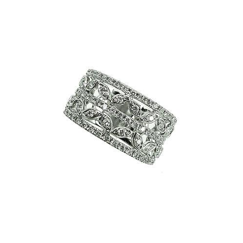 Bague Or blanc 18 carats diamants