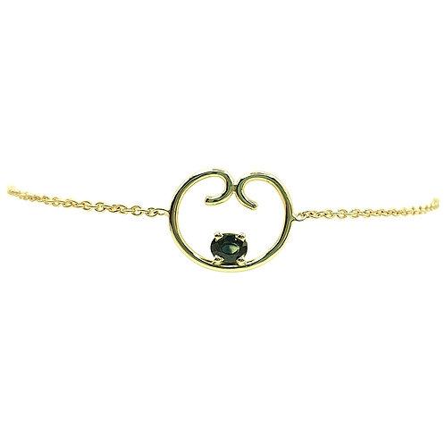 Bracelet or jaune saphir