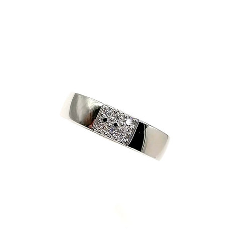 Bague or blanc 18 carats diamants