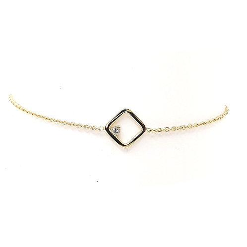 Bracelet or jaune 18 carats diamant