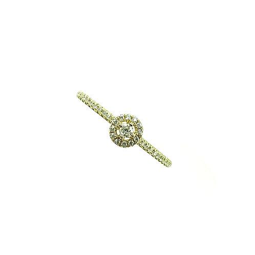 Bague jaune multi-diamants