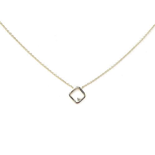 Collier or jaune diamant